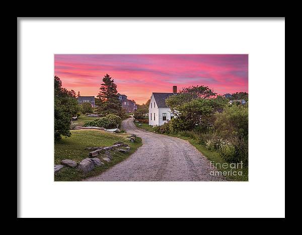 Art Framed Print featuring the photograph Monhegan Island Maine by Benjamin Williamson