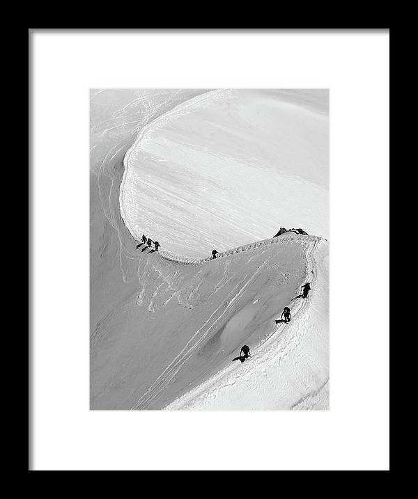 Scenics Framed Print featuring the photograph Mont Blanc by Yanis Ourabah
