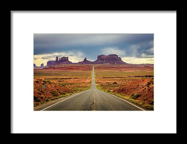 Scenics Framed Print featuring the photograph Monument Valley by Posnov
