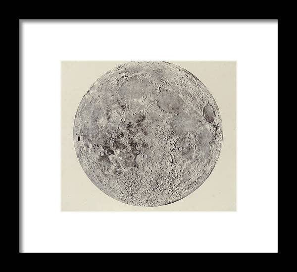 Solar System Framed Print featuring the digital art Moon With Craters by Buyenlarge