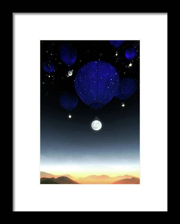 Moon Framed Print featuring the digital art Moonrise by Cynthia Decker