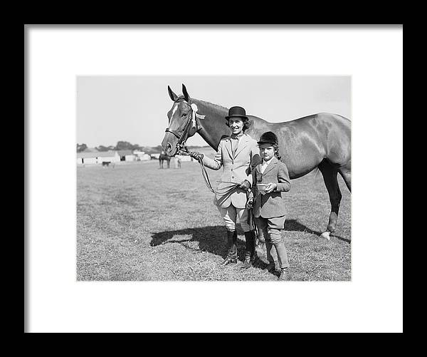 Horse Framed Print featuring the photograph Mother & Daughter Equestrians by Bert Morgan