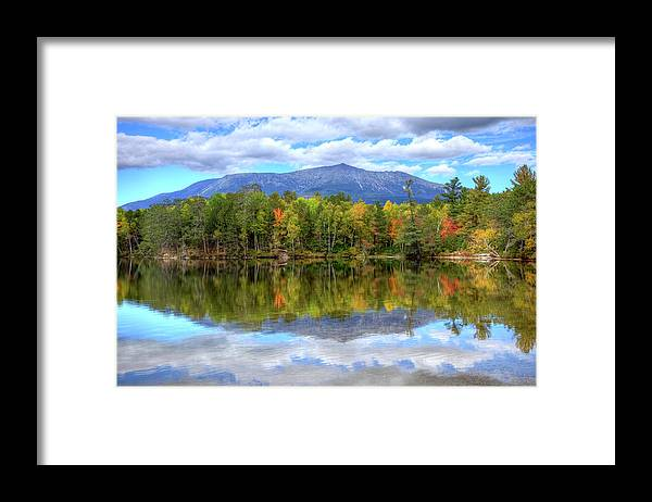 Scenics Framed Print featuring the photograph Mount Katahdin by Denistangneyjr