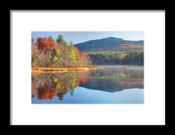 Scenics Framed Print featuring the photograph Mount Monadnock In Autumn by Denistangneyjr