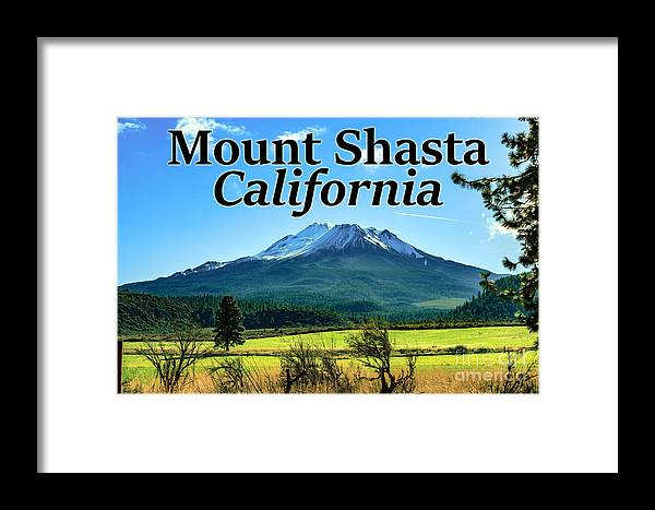 Mount Shasta Framed Print featuring the photograph Mount Shasta California by G Matthew Laughton