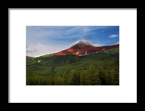 Scenics Framed Print featuring the photograph Mountain Peak - Jasper National Park by Adria Photography