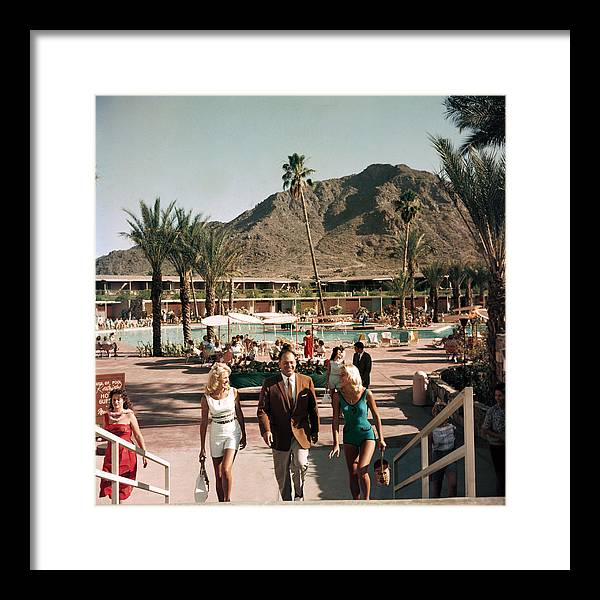 People Framed Print featuring the photograph Mountain Shadows Resort by Slim Aarons