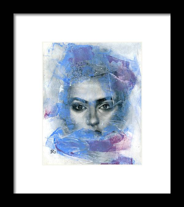 Contemporary Framed Print featuring the painting Movement #12 by Patricia Ariel
