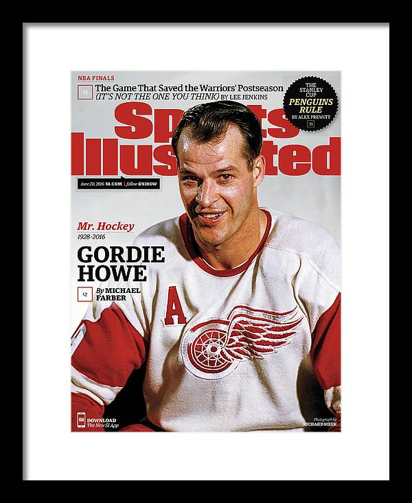Magazine Cover Framed Print featuring the photograph Mr. Hockey Gordie Howe, 1928 - 2016 Sports Illustrated Cover by Sports Illustrated