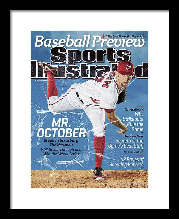 Magazine Cover Framed Print featuring the photograph Mr. October, 2013 Mlb Baseball Preview Issue Sports Illustrated Cover by Sports Illustrated