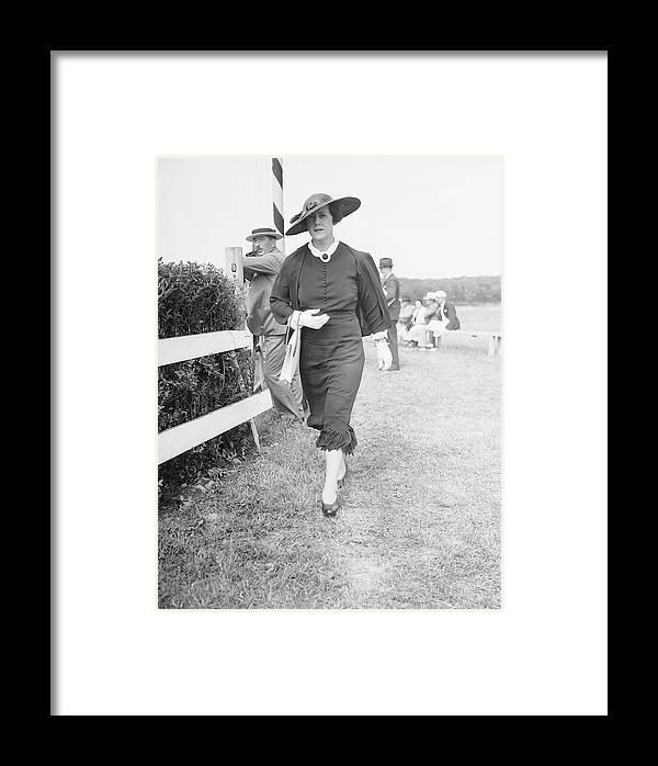 Horse Framed Print featuring the photograph Mrs. Murray Attends A Race by Bert Morgan