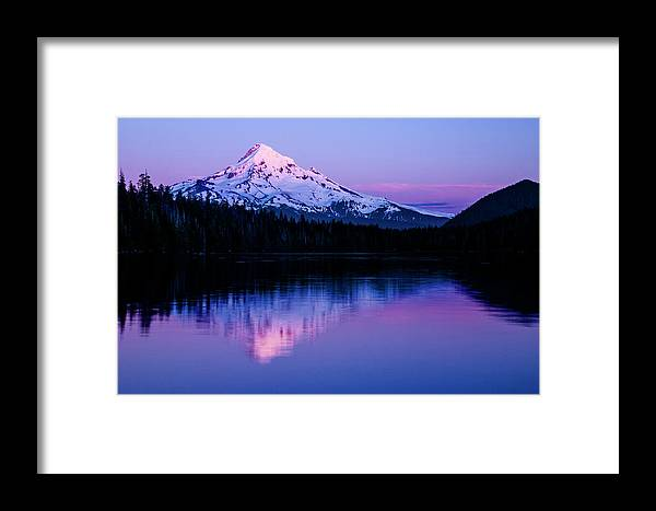c8c64f5f561 Lost Lake Framed Print featuring the photograph Mt Hood, Oregon by Vkbhat