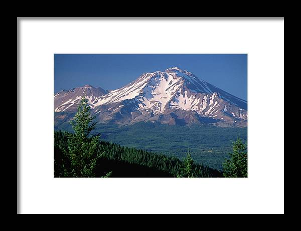 Toughness Framed Print featuring the photograph Mt Shasta Across Lake Siskiyou, Mt by John Elk Iii