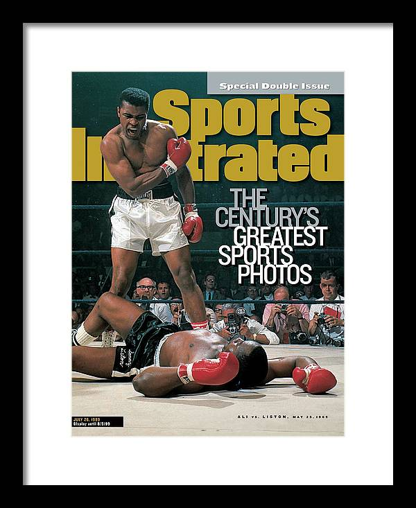 Magazine Cover Framed Print featuring the photograph Muhammad Ali, 1965 World Heavyweight Title Sports Illustrated Cover by Sports Illustrated