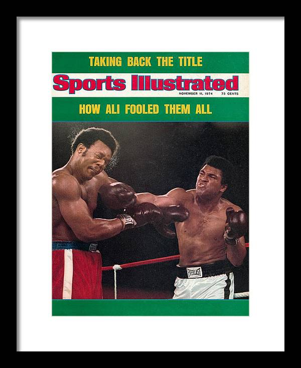 Magazine Cover Framed Print featuring the photograph Muhammad Ali, 1974 Wbawbc Heavyweight Title Sports Illustrated Cover by Sports Illustrated