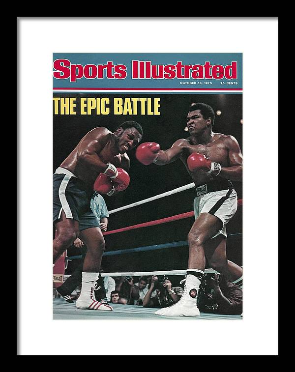 Joe Frazier Framed Print featuring the photograph Muhammad Ali, 1975 Wbcwba Heavyweight Title Sports Illustrated Cover by Sports Illustrated
