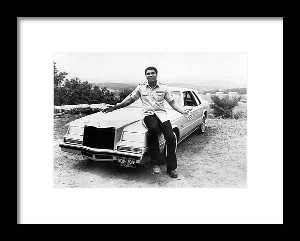 Muhammad Ali - Boxer - Born 1942 Framed Print featuring the photograph Muhammad Ali Car by Afro Newspaper/gado