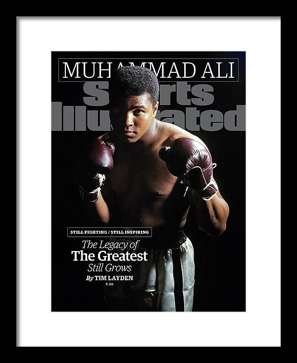 Magazine Cover Framed Print featuring the photograph Muhammad Ali Still Fighting, Still Inspiring. The Legacy Of Sports Illustrated Cover by Sports Illustrated