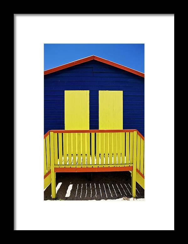 Steps Framed Print featuring the photograph Muizenberg Beach by Paul Piebinga