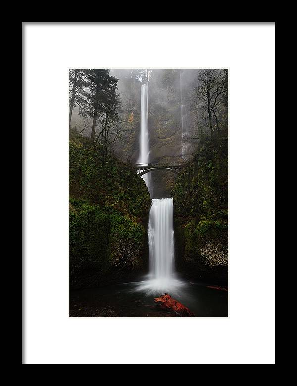Scenics Framed Print featuring the photograph Multnomah Fall by Helminadia