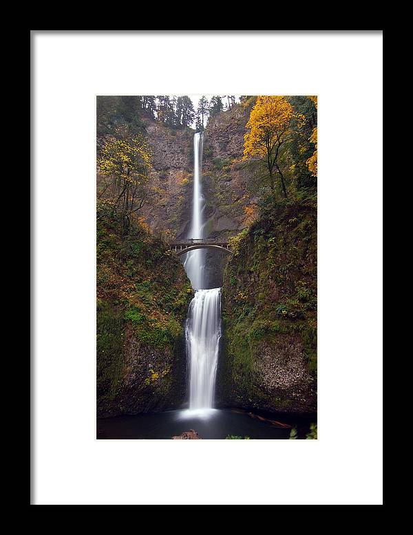Scenics Framed Print featuring the photograph Multnomah Falls by Ted Ducker Photography