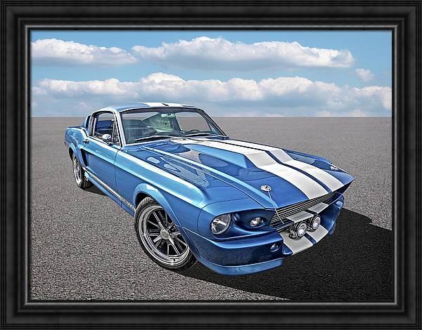Mustang Blues - 1967 Eleanor GT 500 by Gill Billington