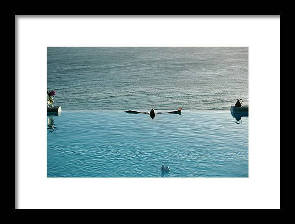 1980-1989 Framed Print featuring the photograph Mustique Pool by Slim Aarons