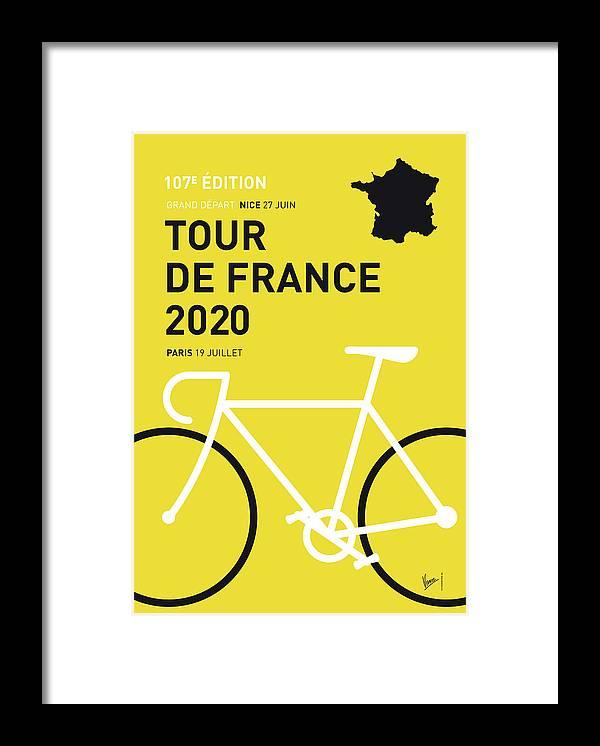 2020 Framed Print featuring the digital art My Tour De France Minimal Poster 2020 by Chungkong Art