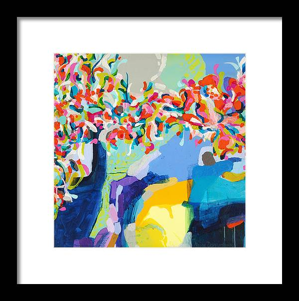 Abstract Framed Print featuring the painting My Vanity by Claire Desjardins