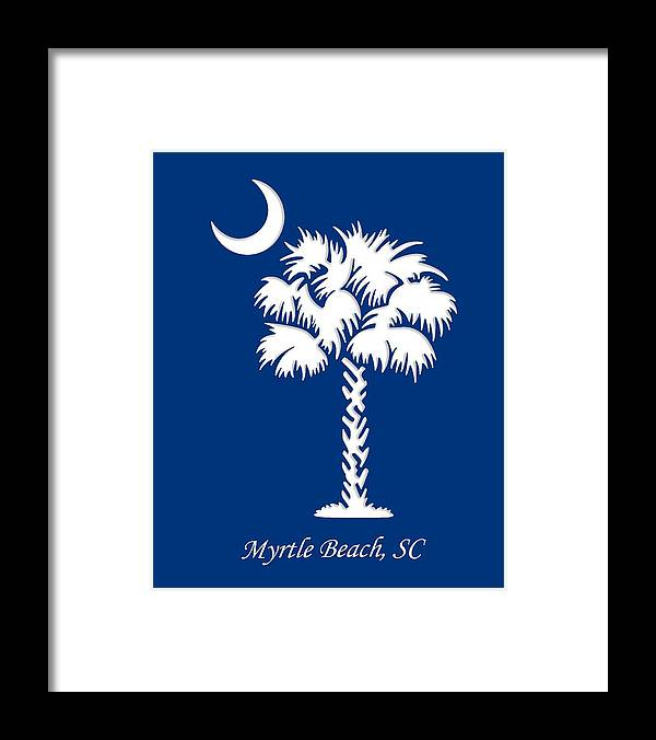 Myrtle Beach Framed Print featuring the digital art Myrtle Beach, Sc by Cynthia Leaphart