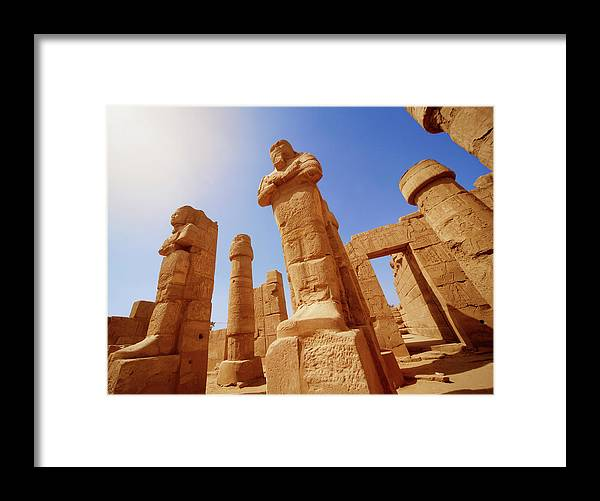 Art Framed Print featuring the photograph Mysterious Ancient Temple Ruins In Egypt by Fds111