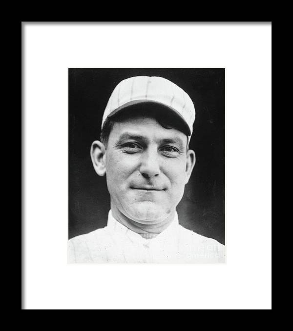 People Framed Print featuring the photograph Nap Lajoie Portrait by Transcendental Graphics