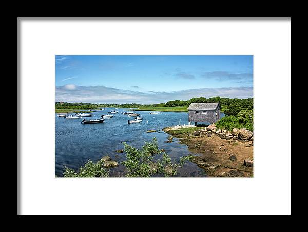 Martha's Vineyard Framed Print featuring the photograph Nashaquitsa Pond On Martha's Vineyard by Brendan Reals