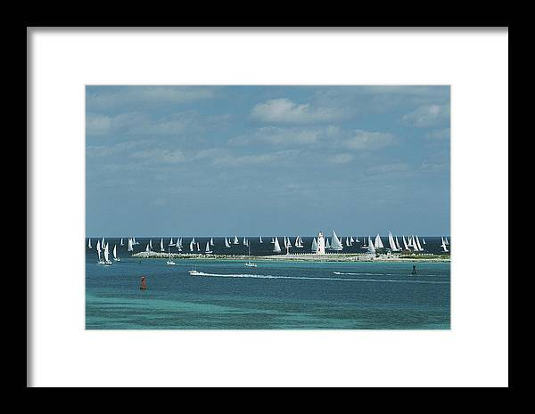 Motorboat Framed Print featuring the photograph Nassau Sailing by Slim Aarons