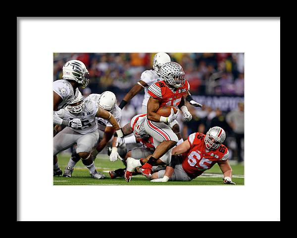 Ball Framed Print featuring the photograph National Championship by Tom Pennington