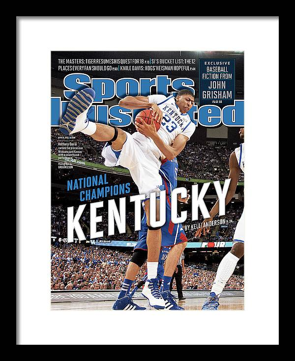 Magazine Cover Framed Print featuring the photograph Ncaa Basketball Tournament - Final Four - Championship Sports Illustrated Cover by Sports Illustrated