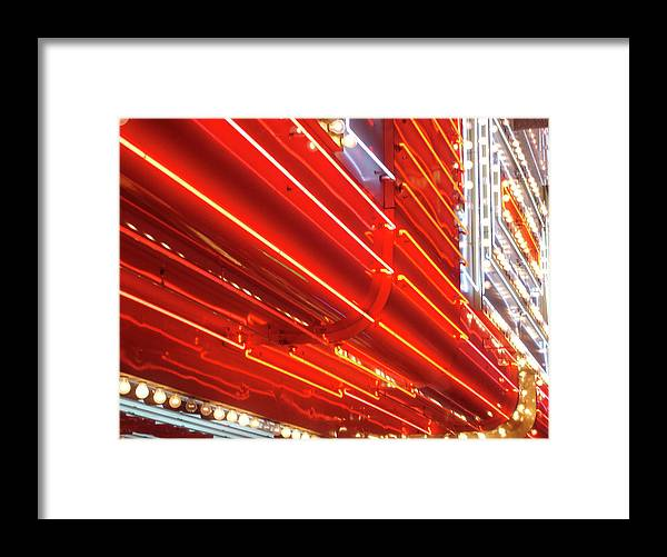Downtown District Framed Print featuring the photograph Neon Lights Downtown Las Vegas by Jill Tindall
