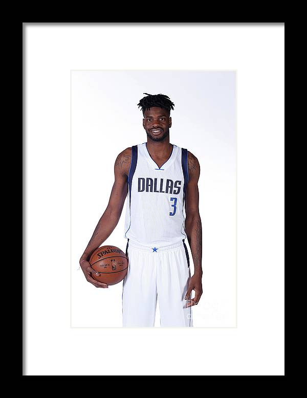 Nba Pro Basketball Framed Print featuring the photograph Nerlens Noel Dallas Mavericks Portraits by Glenn James