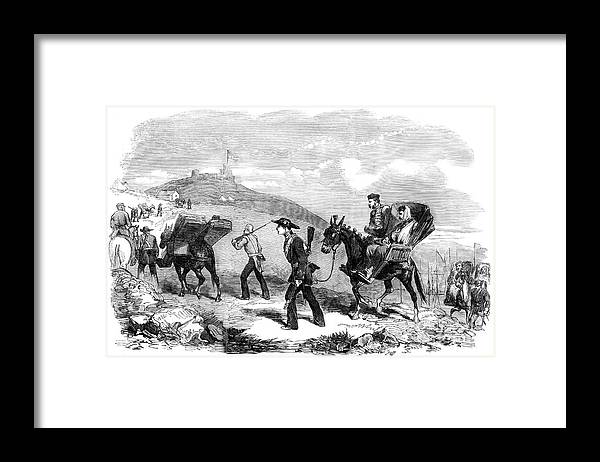 Ambulance Framed Print featuring the drawing New Ambulance Transport Service, 1855 by Print Collector
