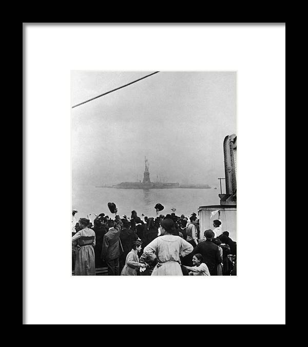 Statue Framed Print featuring the photograph New Beginnings by Edwin Levick