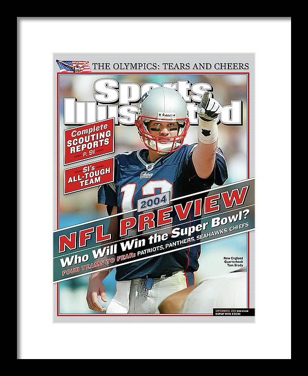 Miami Gardens Framed Print featuring the photograph New England Patriots Quarterback Tom Brady, 2013 Nfl Sports Illustrated Cover by Sports Illustrated