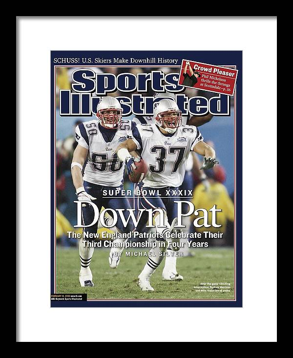 New England Patriots Framed Print featuring the photograph New England Patriots Rodney Harrison And Mike Vrabel, Super Sports Illustrated Cover by Sports Illustrated