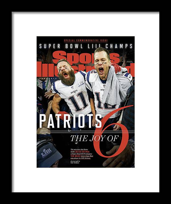 Atlanta Framed Print featuring the photograph New England Patriots, Super Bowl Liii Champions Sports Illustrated Cover by Sports Illustrated