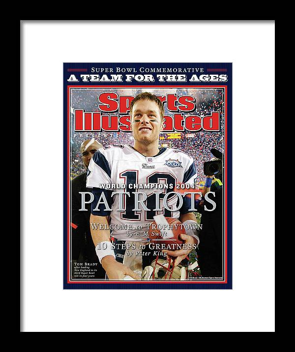 New England Patriots Framed Print featuring the photograph New England Patriots, Super Bowl Xxxix Champions Sports Illustrated Cover by Sports Illustrated