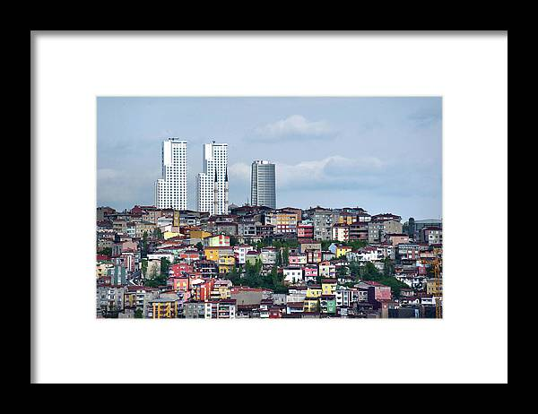 Istanbul Framed Print featuring the photograph New Istanbul by Alain Bachellier