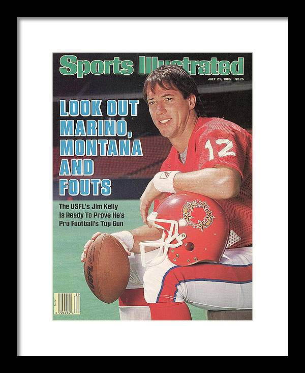 1980-1989 Framed Print featuring the photograph New Jersey Generals Qb Jim Kelly Sports Illustrated Cover by Sports Illustrated