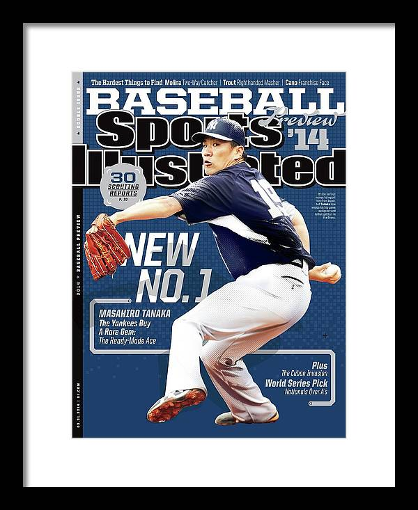 Magazine Cover Framed Print featuring the photograph New No. 1 2014 Mlb Baseball Preview Issue Sports Illustrated Cover by Sports Illustrated