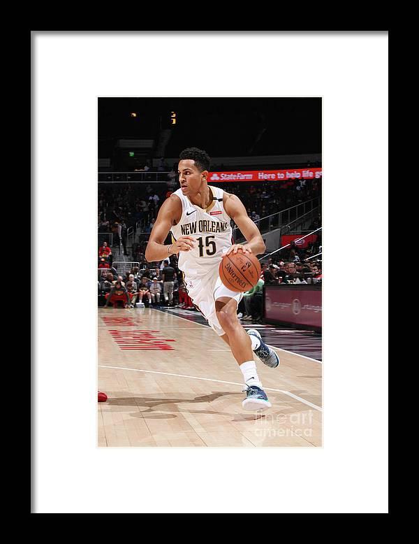 Atlanta Framed Print featuring the photograph New Orleans Pelicans V Atlanta Hawks by Jasear Thompson