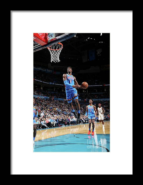 Nba Pro Basketball Framed Print featuring the photograph New Orleans Pelicans V Oklahoma City by Zach Beeker