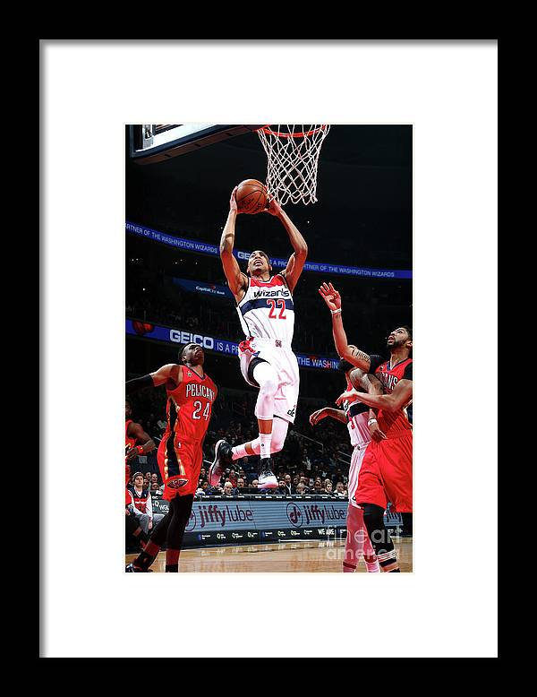 Nba Pro Basketball Framed Print featuring the photograph New Orleans Pelicans V Washington by Ned Dishman